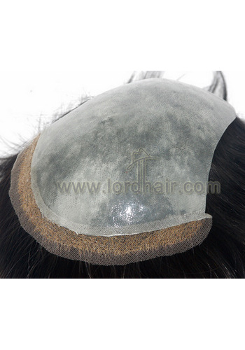 F017: Super thin skin lift injected base with lace front, the best toupee for men