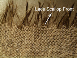 lace hair replacement scallop front