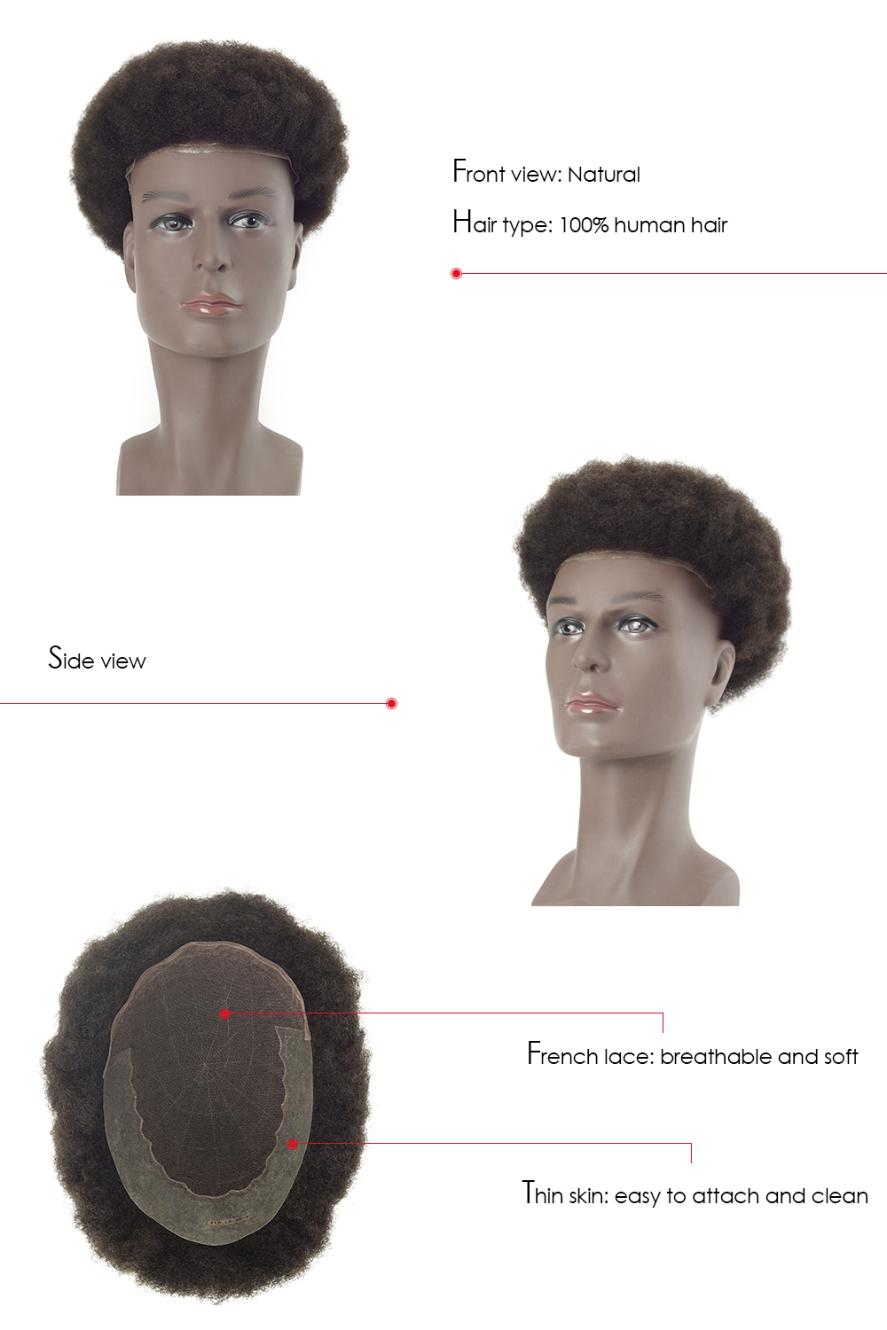 African American hairpiece for men