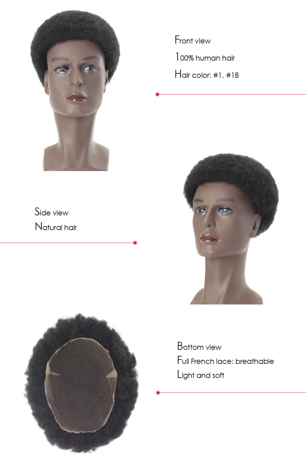 Hair piece for African American