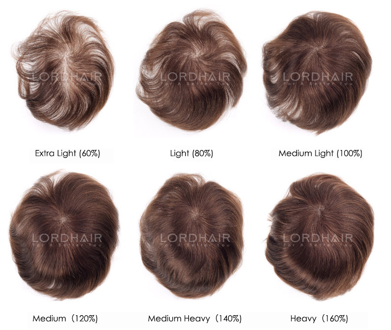 Hair density of hair systems