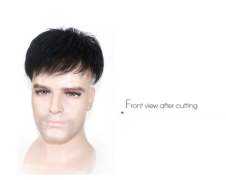 Undetectable Transparent Base Mens Hairpieces For Thinning