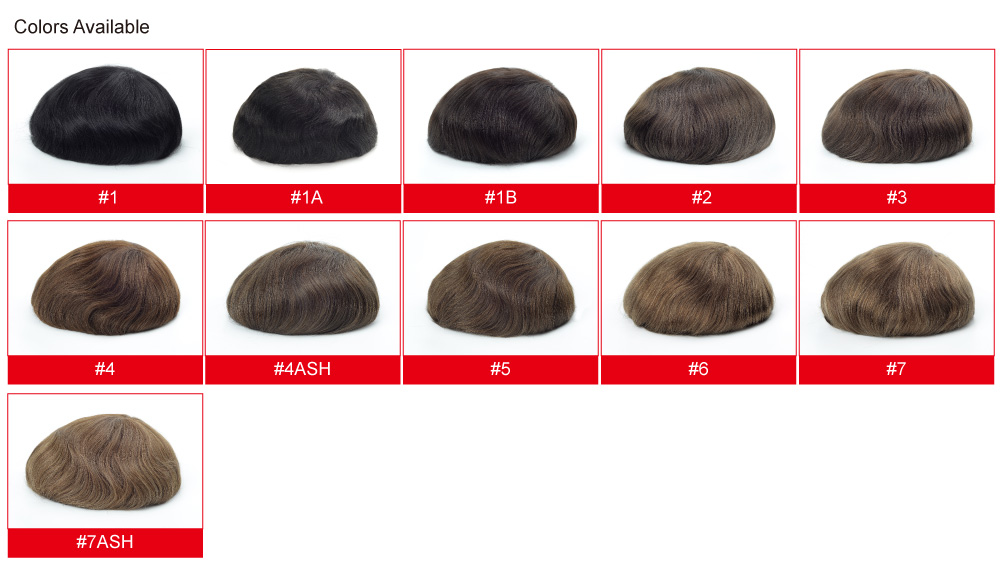 Strong Fine Welded Mens Hairpieces 100 Real Human Hair
