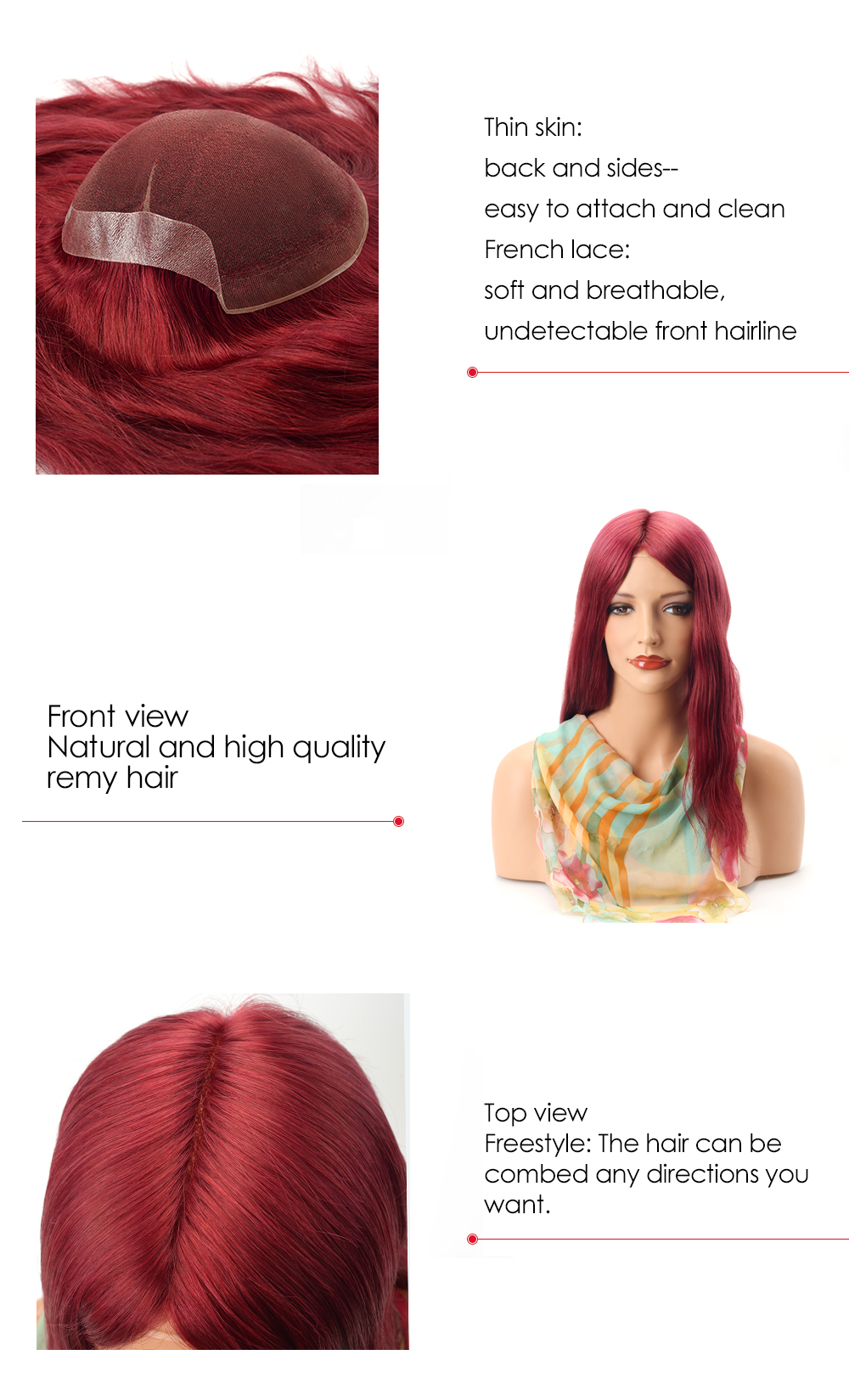French hairpiece for women