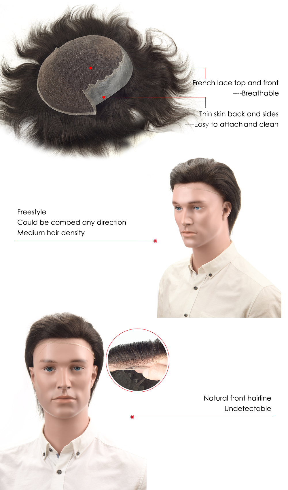 q6m stock hairpiece for men