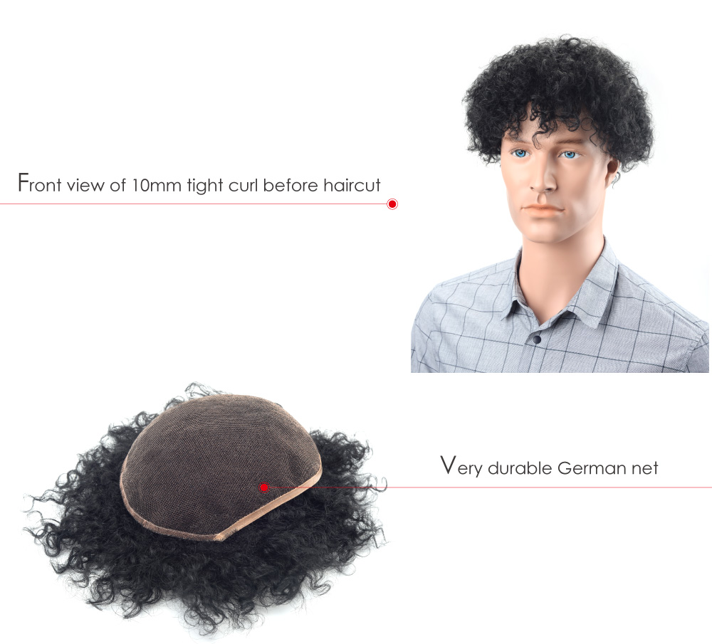 German lace hair replacement system