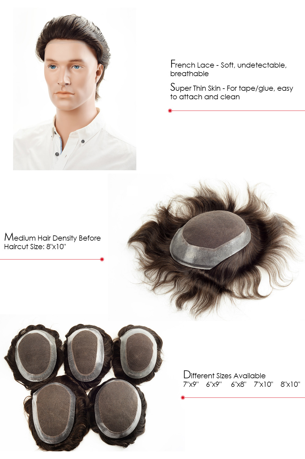 hair piece for men