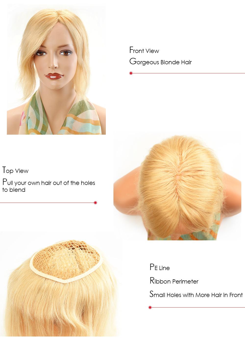 blonde hair piece for women