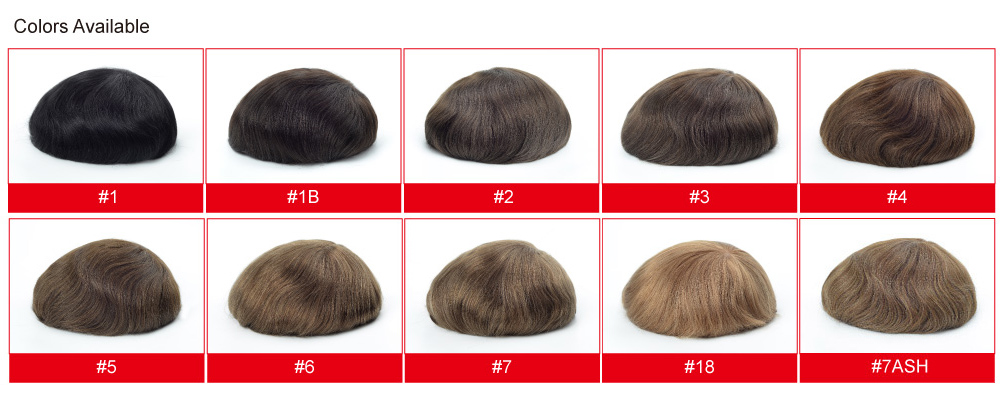 Stock Mens Toupee Colors