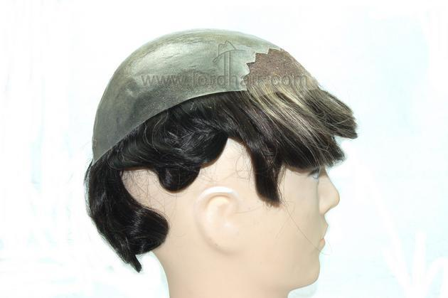 skin with Swiss lace front hair system