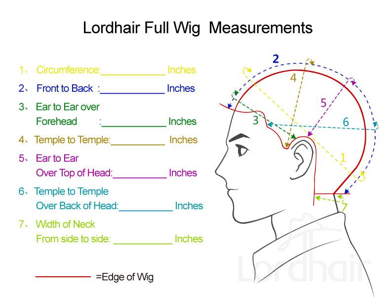 Full Cap Wig Measurements