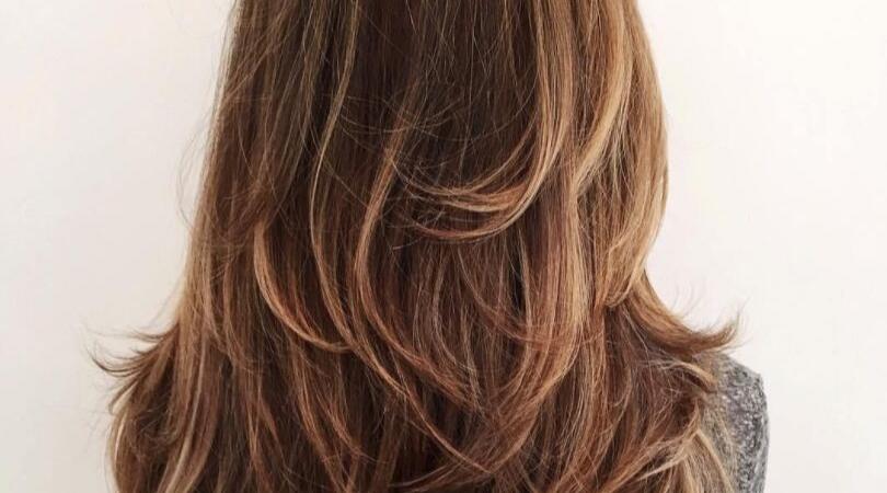 Trendy layered haircut