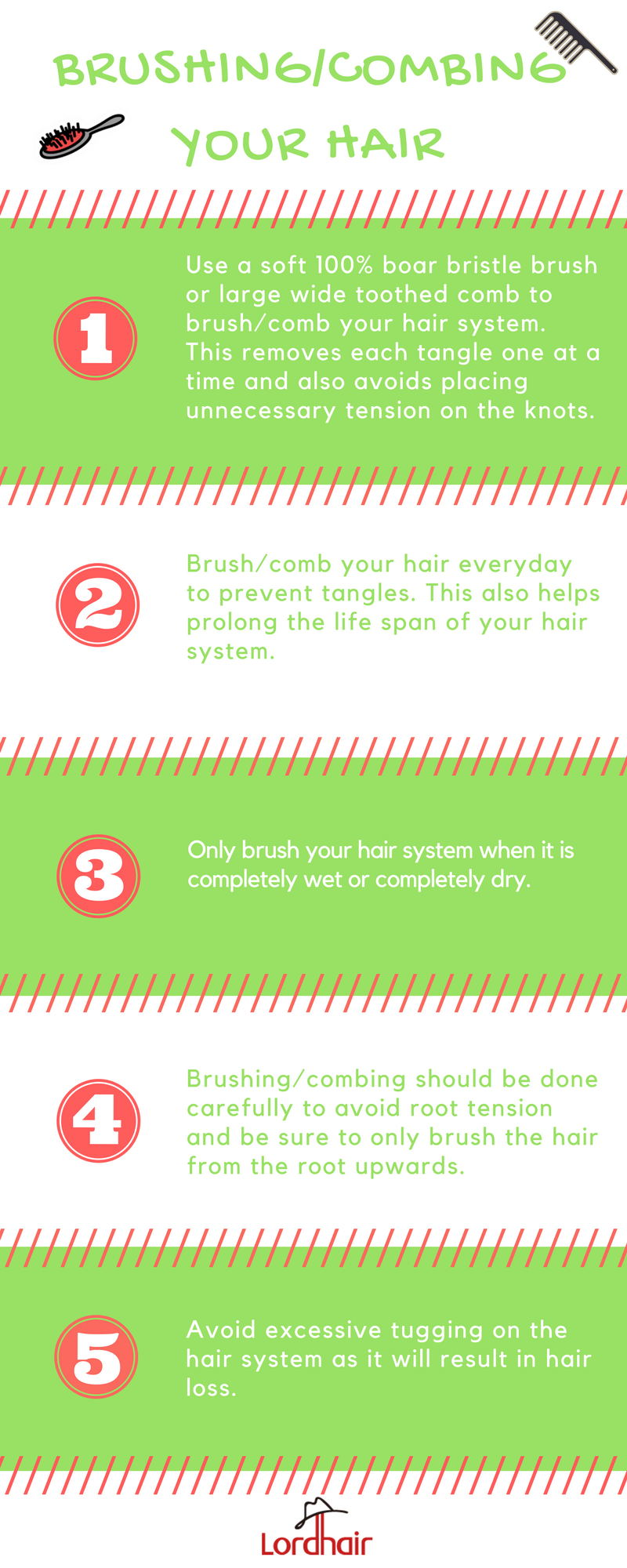 brushing and combing your hair system