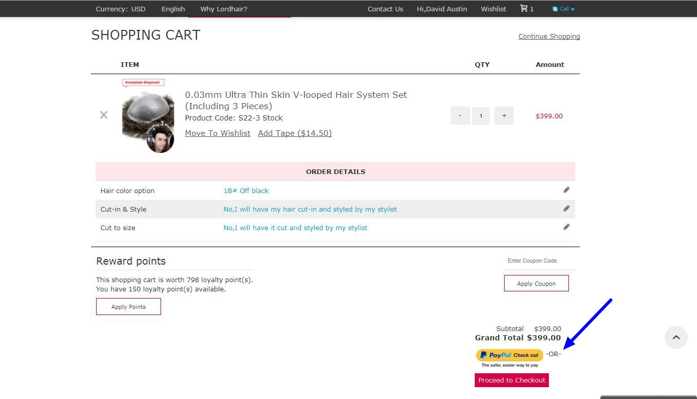 Hair System Online Store
