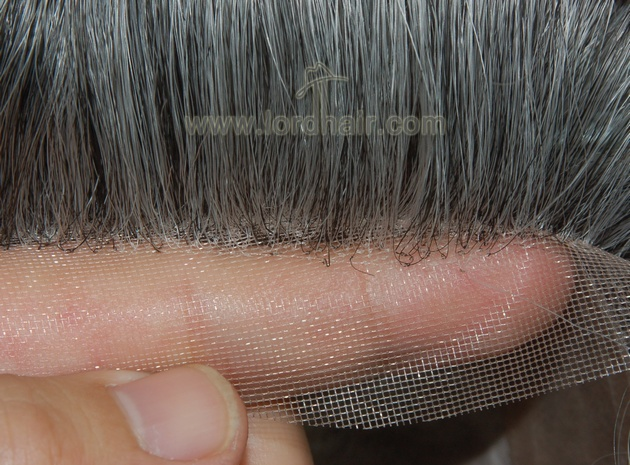 double layer fine mono pu coat perimeter mono lace front