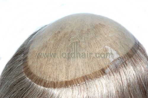 durable thick skin with gauze injected hairpiece
