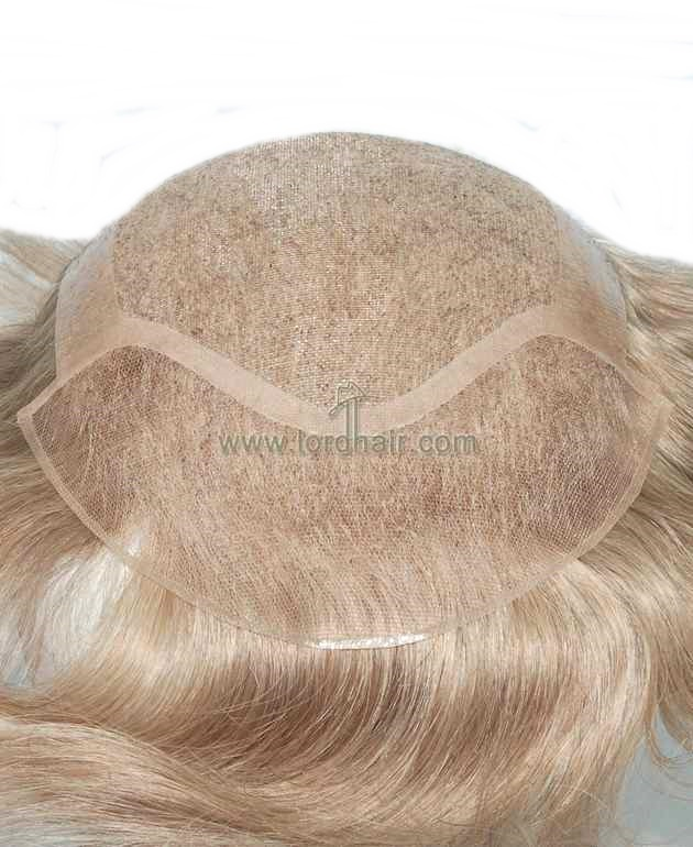fine welded mono pu perimeter with french lace front