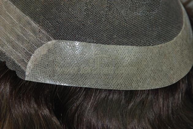 fine welded mono pu coat perimeter lace front
