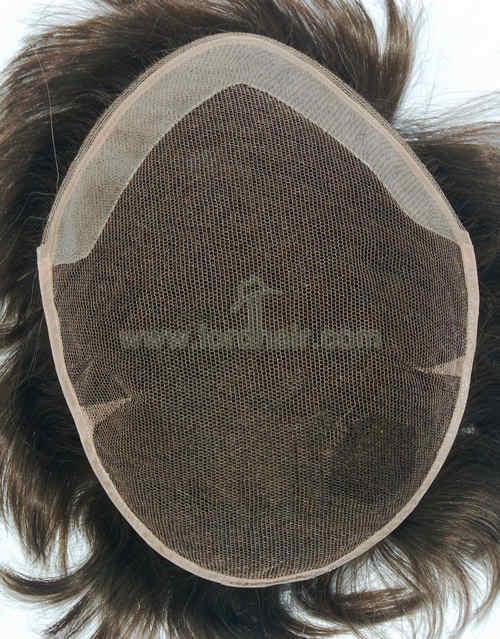 german net pu coat front