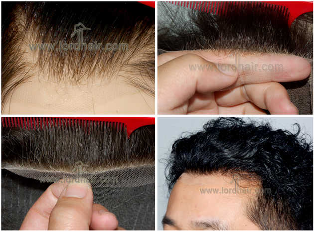 Natural lace front hairline of hair system