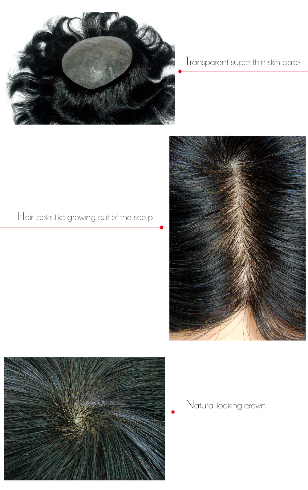 Undetectable Knotless Lift Injected Hair Wigs For Men