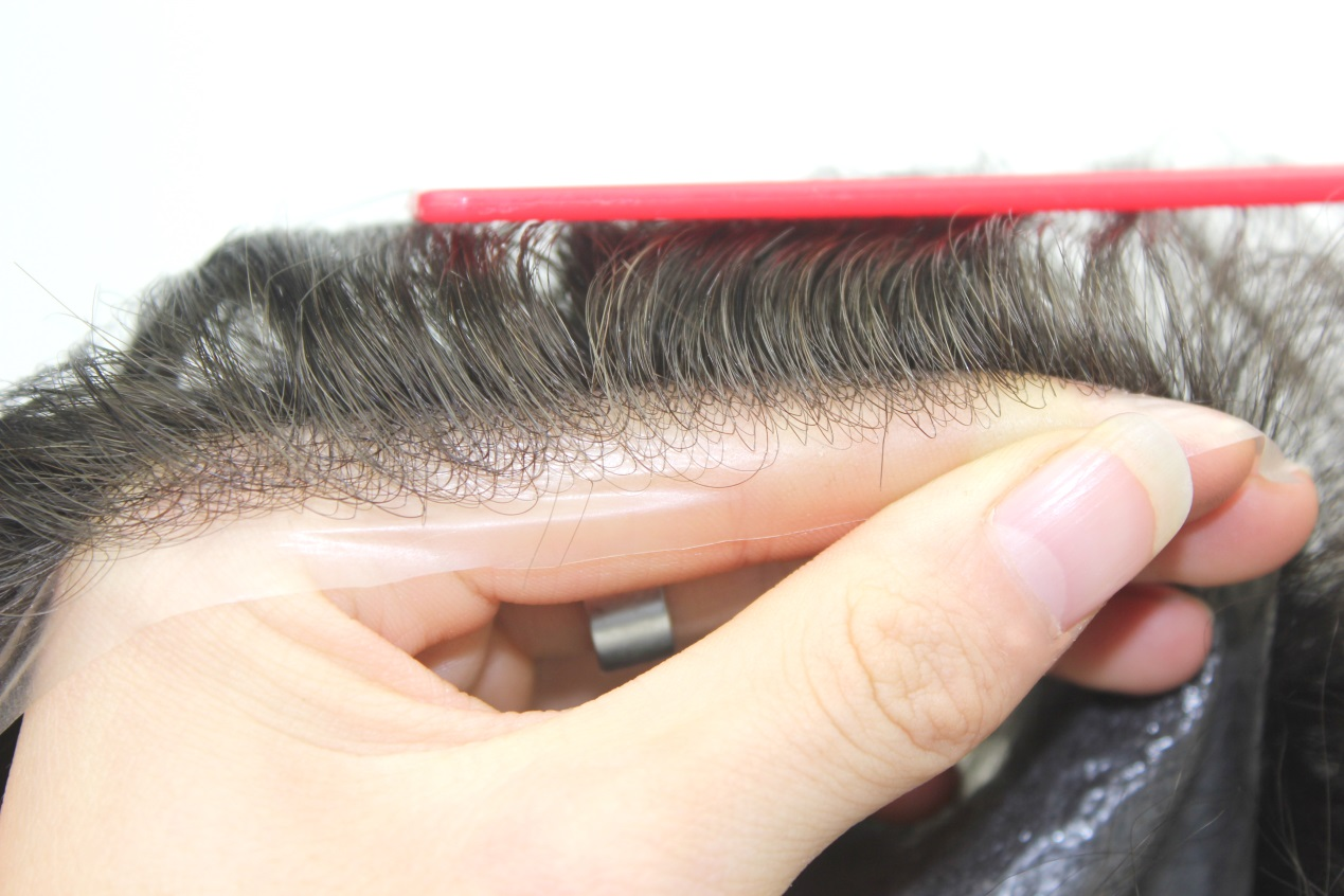 0.03mm Ultra Thin Skin V-loop Hair System Front Hairline