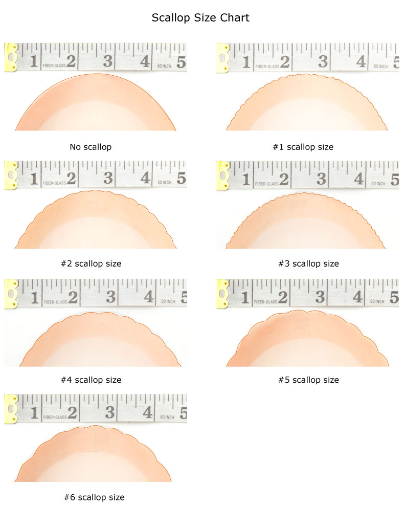 Hair Replacement System Scallop Front Sizes