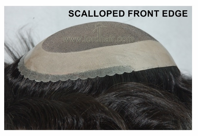 scalloped front