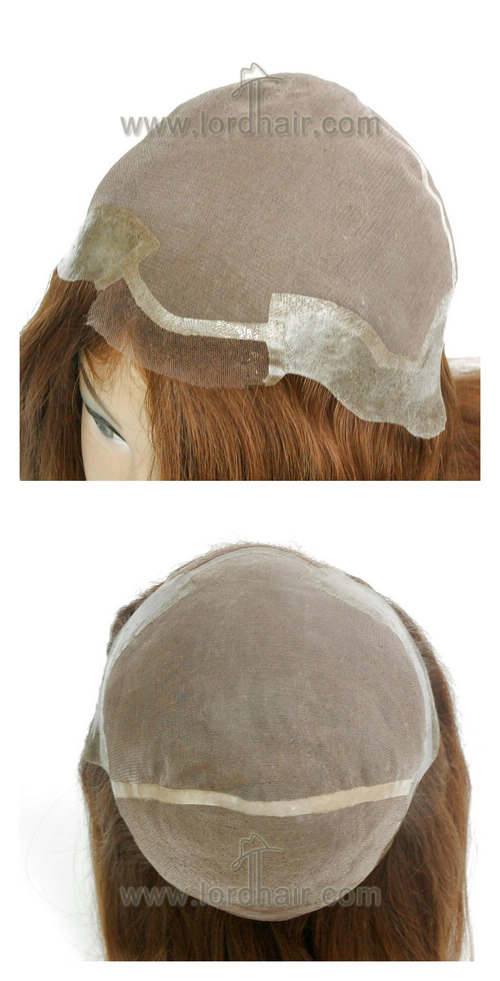 yj295 full cap lady wig