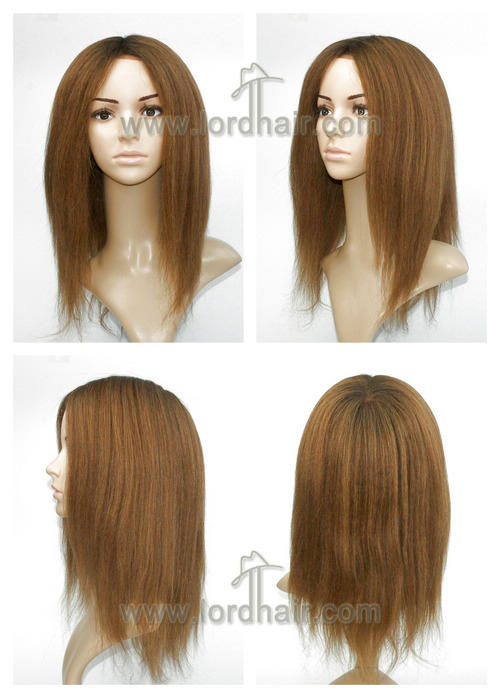 yj445 full cap lady wig
